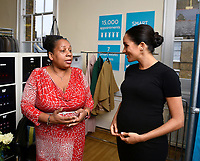 10 January 2019 - London, England - Meghan Markle Duchess Of Sussex with Patsy Wardally visits   Smart Works Charity in London. Photo Credit: ALPR/AdMedia
