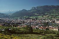 Europe/France/Midi-Pyrénées/09/Ariège/Le Couserans/Saint Girons: La ville - Vue générale
