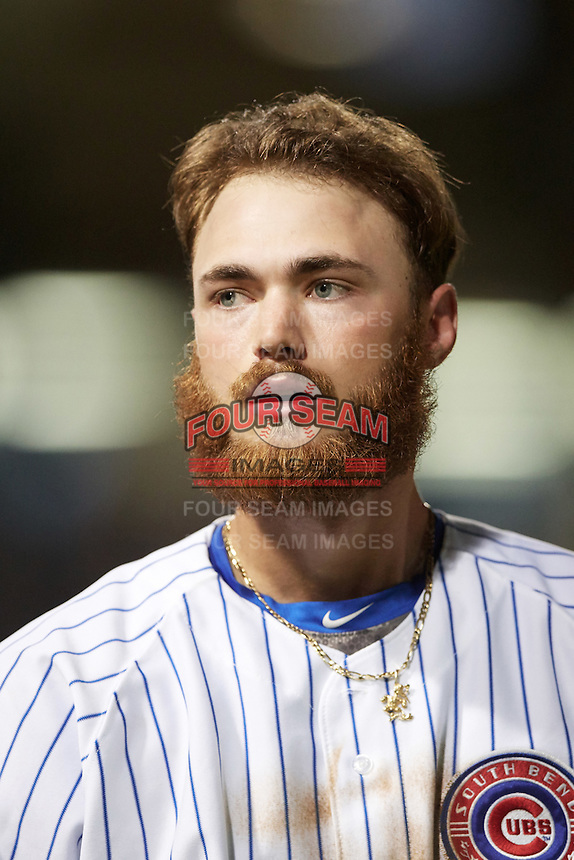 South Bend Cubs third baseman Matt Rose (17) during a game against the Burlington Bees on July 22, 2016 at Four Winds Field in South Bend, Indiana.  South Bend defeated Burlington 4-3.  (Mike Janes/Four Seam Images)