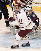 Andie Anastos (BC - 23), Elaine Chuli (UConn - 29) - The Boston College Eagles defeated the visiting UConn Huskies 4-0 on Friday, October 30, 2015, at Kelley Rink in Conte Forum in Chestnut Hill, Massachusetts.