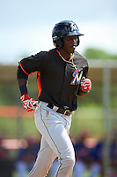 Miami Marlins Isaiah White (68) during an Instructional League game against the New York Mets on September 29, 2016 at the Port St. Lucie Training Complex in Port St. Lucie, Florida.  (Mike Janes/Four Seam Images)