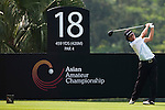 SHENZHEN, CHINA - OCTOBER 29:  Xiongyi Zhao of China plays his tee shot on the 18th hole during the day one of Asian Amateur Championship at the Mission Hills Golf Club on October 29, 2009 in Shenzhen, Guangdong, China.  (Photo by Victor Fraile/The Power of Sport Images) *** Local Caption *** Xiongyi Zhao