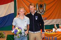 13-08-11, Tennis, Hillegom, Nationale Jeugd Kampioenschappen, NJK, 4e bij de jongens tot 14 jaar Olger van Gent met Jan Siemerink