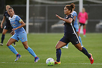 Piscataway, NJ - Saturday Aug. 27, 2016: Christen Press, Raquel Rodriguez during a regular season National Women's Soccer League (NWSL) match between Sky Blue FC and the Chicago Red Stars at Yurcak Field.