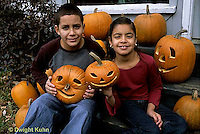HS24-333z  Pumpkin - children with jack-o-lanterns