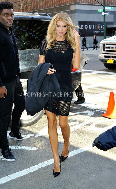 WWW.ACEPIXS.COM<br /> <br /> March 31 2015, New York City<br /> <br /> <br /> Actress/Model Charlotte McKinney visits a New York show on March 31 2015 in New York City.<br /> <br /> <br /> Please byline: Curtis Means/ACE Pictures<br /> <br /> ACE Pictures, Inc.<br /> www.acepixs.com, Email: info@acepixs.com<br /> Tel: 646 769 0430