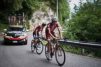 Maxim Belkov (RUS/Katusha) up the Foza climb (1086m)<br /> <br /> Stage 20: Pordenone › Asiago (190km)<br /> 100th Giro d'Italia 2017