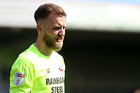 Scunthorpe United's Jack Alnwick in action<br /> <br /> Photographer David Shipman/CameraSport<br /> <br /> The EFL Sky Bet League One - Scunthorpe United v Blackpool - Friday 19th April 2019 - Glanford Park - Scunthorpe<br /> <br /> World Copyright © 2019 CameraSport. All rights reserved. 43 Linden Ave. Countesthorpe. Leicester. England. LE8 5PG - Tel: +44 (0) 116 277 4147 - admin@camerasport.com - www.camerasport.com