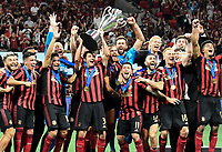 ATLANTA, Georgia - August 27: Atlanta United celebrate during the 2019 U.S. Open Cup Final between Atlanta United and Minnesota United at Mercedes-Benz Stadium on August 27, 2019 in Atlanta, Georgia.
