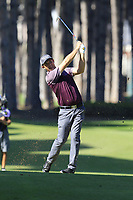 Padraig Harrington (IRL) plays his 2nd shot on the 3rd hole during Friday's Round 2 of the 2018 Turkish Airlines Open hosted by Regnum Carya Golf &amp; Spa Resort, Antalya, Turkey. 2nd November 2018.<br /> Picture: Eoin Clarke | Golffile<br /> <br /> <br /> All photos usage must carry mandatory copyright credit (&copy; Golffile | Eoin Clarke)