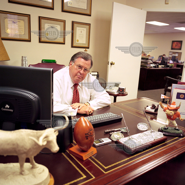 Lawyer Jerry Guerinot in his office in Houston, Texas. Mr Guerinot defended British citizen Linda Carty during her trial for abduction and murder. Guerinot only spent one hour with Linda before her trial began. Previously he has represented 21 people who have ended up with the death sentence, and he has been dubbed the worst lawyer in the world.