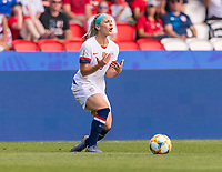 PARIS,  - JUNE 16: Julie Ertz #8 reacts to a referee's decision during a game between Chile and USWNT at Parc des Princes on June 16, 2019 in Paris, France.