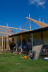 """John and Brenda English's home in Vaughn, Georgia after an April tornado tore apart the community. John and his wife Brenda braced for the storm in their bedroom and """"it sounded like one of those 767 jets. Whoosh!,"""" Mr. English said of the tornado."""