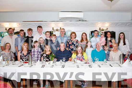 Tim Cotter (Seated Centre) from Knocknagoshel celebrated his 50th.<br /> Birthday with family last Saturday night in Leen's Hotel Abbeyfeale.