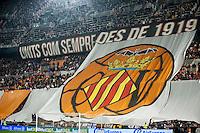VALENCIA, SPAIN - DECEMBER 5: Valencia fans during BBVA LEAGUE match between Valencia C.F. and FC Barcelona at Mestalla Stadium on December 5, 2015 in Valencia, Spain