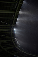 23rd November 2019; Olympic Grande Torino Stadium, Turin, Piedmont, Italy; Serie A Football, Torino versus Inter Milan; Thunderstorms sweep across the stadium roof during the game - Editorial Use