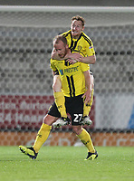Burton Albion's Liam Boyce celebrates scoring his sides first goal <br /> <br /> Photographer Mick Walker/CameraSport<br /> <br /> The Carabao Cup Round Three   - Burton Albion  v Burnley - Tuesday  25 September 2018 - Pirelli Stadium - Buron On Trent<br /> <br /> World Copyright © 2018 CameraSport. All rights reserved. 43 Linden Ave. Countesthorpe. Leicester. England. LE8 5PG - Tel: +44 (0) 116 277 4147 - admin@camerasport.com - www.camerasport.com