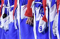 Team SLOVAKIA , hands <br /> Budapest 12/01/2020 Duna Arena <br /> SLOVAKIA (white caps) Vs. RUSSIA (blue caps)<br /> XXXIV LEN European Water Polo Championships 2020<br /> Photo  © Andrea Staccioli / Deepbluemedia / Insidefoto