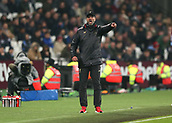 4th February 2019, London Stadium, London, England; EPL Premier League football, West Ham United versus Liverpool; Liverpool Manager Jurgen Klopp screaming at his Liverpool players from the touchline during the 2nd half