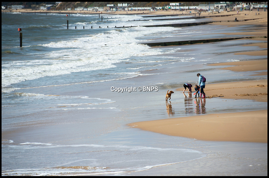 BNPS.co.uk (01202 558833)<br /> Pic: PhilYeomans/BNPS<br /> <br /> Spring has finally arrived on Bournemouth beach today...and it looks like it could be here to stay.