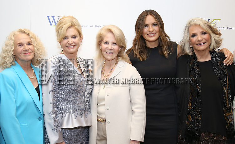 Carole King, Carolyn B. Maloney, Daryl Roth, Mariska Hargitay and Shelia Nevins attend The 7th Annual Elly Awards at The Plaza Hotel on June 19, 2017 in New York City.