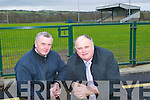 Stay out: Tadgh Moriarty and Denis Stack of the Listowel Emmets GAA Frank Sheehy Park field and development committee are telling vandals to stay away from their newly refurbished grounds.   Copyright Kerry's Eye 2008