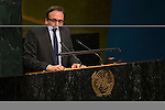 USA<br /> <br /> General Assembly Seventy-first session, 25th plenary meeting<br /> 1.  Organization of work, adoption of the agenda and allocation of items: Documentation for the election of the members of the International Law Commission: review of the list of candidates [item 7]<br /> 2.  Implementation of the resolutions of the United Nations [item 120] Revitalization of the work of the General Assembly [item 121]<br />      Joint debate