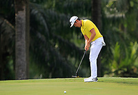 Daniel Im (USA) in action on the 9th during Round 2 of the Maybank Championship at the Saujana Golf and Country Club in Kuala Lumpur on Friday 2nd February 2018.<br /> Picture:  Thos Caffrey / www.golffile.ie<br /> <br /> All photo usage must carry mandatory copyright credit (&copy; Golffile | Thos Caffrey)