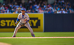 23 June 2013: Los Angeles Dodgers infielder Hanley Ramirez in action against the San Diego Padres at Petco Park in San Diego, California. The Dodgers defeated the Padres 3-1, splitting their 4-game Divisional Series at 2-2. Mandatory Credit: Ed Wolfstein Photo *** RAW (NEF) Image File Available ***