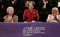 PICTURE BY VAUGHN RIDLEY/SWPIX.COM - Leeds International Piano Competition 2012 - Leeds Town Hall, Leeds, England - 15/09/12 - Dame Janet Baker, Dame Fanny Waterman and Lord Mayor Ann Castle.