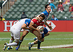 France vs Portugal during the HSBC Sevens Wold Series Bowl Quarter Finals match as part of the Cathay Pacific / HSBC Hong Kong Sevens at the Hong Kong Stadium on 29 March 2015 in Hong Kong, China. Photo by Jerome Favre / Power Sport Images
