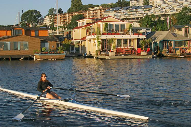 Rowing Crew Seattle Lake Union Joel Rogers Photography