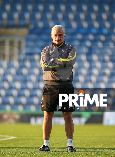 Oxford united assistant coach Derek Fazackerley during the The Checkatrade Trophy match between Oxford United and Exeter City at the Kassam Stadium, Oxford, England on 30 August 2016. Photo by Andy Rowland / PRiME Media Images.