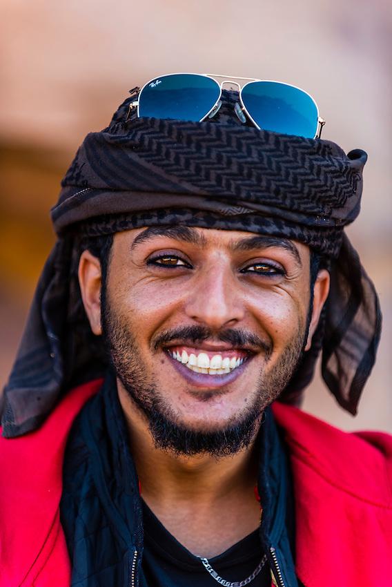 Bedouin man, Petra Archaeological Park (a UNESCO World Heritage Site), Petra, Jordan.