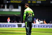 Rumman Raees prepares to bowl during the One Day International cricket match between the NZ Black Caps and Pakistan at the Basin Reserve in Wellington, New Zealand on Saturday, 6 January 2018. Photo: Dave Lintott / lintottphoto.co.nz