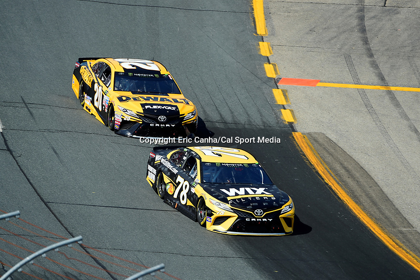 July 16, 2017 - Loudon, New Hampshire, U.S. - Martin Truex Jr, Monster Energy NASCAR Cup Series driver of the Wix Filters Toyota (78), leads Matt Kenseth, driver of the Dewalt Flexvolt Toyota (20), at the NASCAR Monster Energy Overton's 301 race held at the New Hampshire Motor Speedway in Loudon, New Hampshire. Eric Canha/CSM