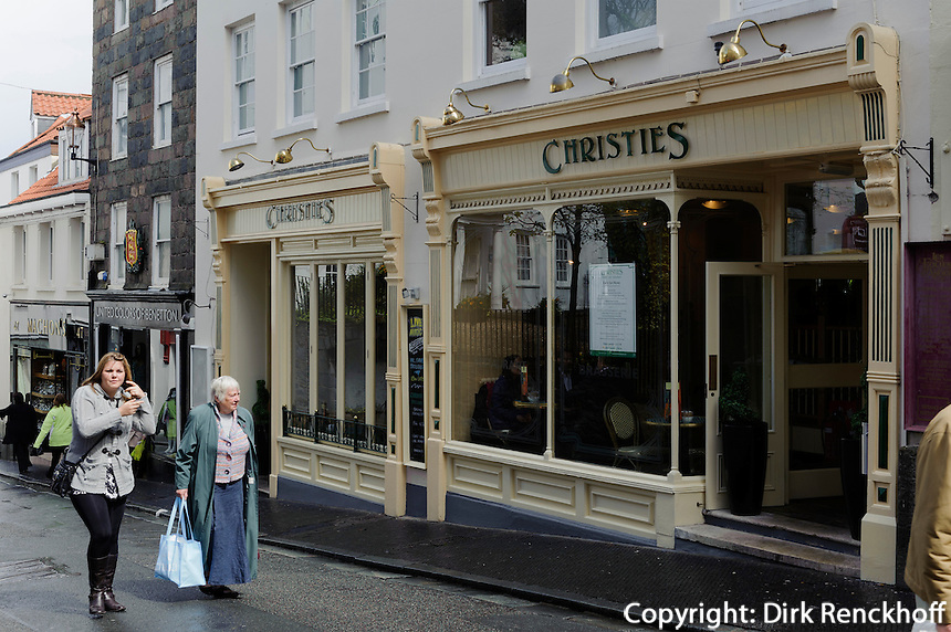Restaurant Christies, Le Pollet  in St. Peter Port, Insel Guernsey, Kanalinseln