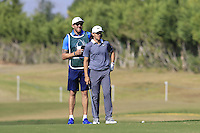 Tommy Fleetwood (ENG) on the 9th hole during Thursday's Round 1 of the 2016 Portugal Masters held at the Oceanico Victoria Golf Course, Vilamoura, Algarve, Portugal. 19th October 2016.<br /> Picture: Eoin Clarke | Golffile<br /> <br /> <br /> All photos usage must carry mandatory copyright credit (&copy; Golffile | Eoin Clarke)
