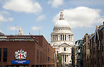 Dome of St Paul's cathedral and City of London School, London