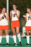 19 September 2014: Virginia's Tara Vittese. The Duke University Blue Devils hosted the University of Virginia Cavaliers at Jack Katz Stadium in Durham, North Carolina in a 2014 NCAA Division I Field Hockey match. Virginia won the game 2-1.