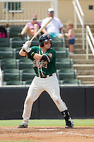 Chad Wallach (47) of the Greensboro Grasshoppers at bat against the Kannapolis Intimidators at CMC-NorthEast Stadium on September 1, 2014 in Kannapolis, North Carolina.  The Grasshoppers defeated the Intimidators 7-4.  (Brian Westerholt/Four Seam Images)