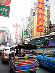 Traffic in China Town - Bangkok, Thailand