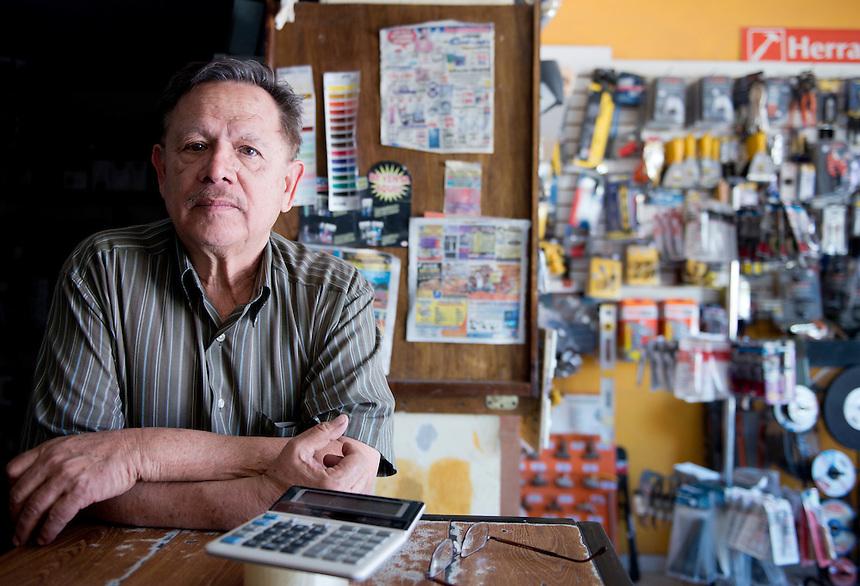 Jesus Mario F Hernandez. Hardware store owners in Quila, Sinaloa,  Mexico