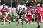 El Segundo, CA 04/27/10 - Nate Edwards (El Segundo # 8) and Cam Chupp (Simi Valley # 24) in action during the Simi Valley-El Segundo non cif game at El Segundo Campus Facility, Simi Valley defeated El Segundo 9-5.