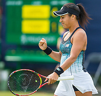 Heather Watson celebrates<br /> <br /> Photographer Alex Dodd/CameraSport<br /> <br /> Tennis - WTA World Tour - Nature Valley Open Tennis Tournament - Day 3 - Wednesday 13th June 2018 - Nottingham Tennis Centre - Nottingham<br /> <br /> World Copyright &copy; 2018 CameraSport. All rights reserved. 43 Linden Ave. Countesthorpe. Leicester. England. LE8 5PG - Tel: +44 (0) 116 277 4147 - admin@camerasport.com - www.camerasport.com