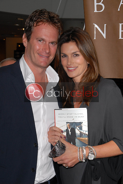 """Rande Gerber and Cindy Crawford<br /> at a celebration of Jerry Weintraub's New Book """"When I Stop Talking You'll Know I'm Dead,"""" Barney's New  York, Beverly Hills, CA. 05-18-10<br /> David Edwards/Dailyceleb.com 818-249-4998"""