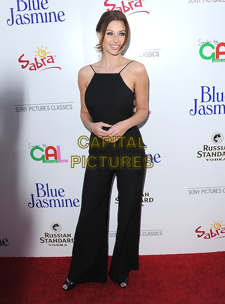 Alyson &quot;Aly&quot; Michalka <br /> 'Blue Jasmine'  L.A. premiere at The Academy of Motion Pictures Arts and Sciences in Beverly Hills, California, USA.<br /> 24th July 2013 <br /> full length black sleeveless jumpsuit <br /> CAP/DVS<br /> &copy;DVS/Capital Pictures