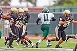 Torrance, CA 10/05/11 -Michael Pettis (Peninsula #75) and Harper Harrington (Peninsula #66) in action during the Peninsula vs South Torrance Junior Varsity football game.