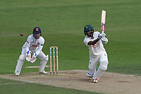 Kraigg Brathwaite in batting action for Nottinghamshire as Adam Wheater looks on from behind the stumps during Nottinghamshire CCC vs Essex CCC, Specsavers County Championship Division 1 Cricket at Trent Bridge on 12th September 2018