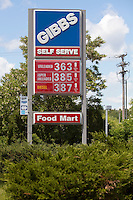A GIBBS gas station is pictured in South Casco, Maine Monday June 17, 2013.